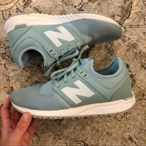 "8b0e26cd2fab8 New Balance 247 ""Smoke Blue"" Sneakers 7. M_5bc4dd5ba31c33f86b809b12"